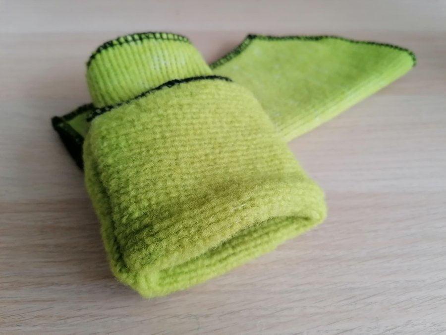 Mănuşi Protecţii mâini lână merinos light green pea Alwero 3