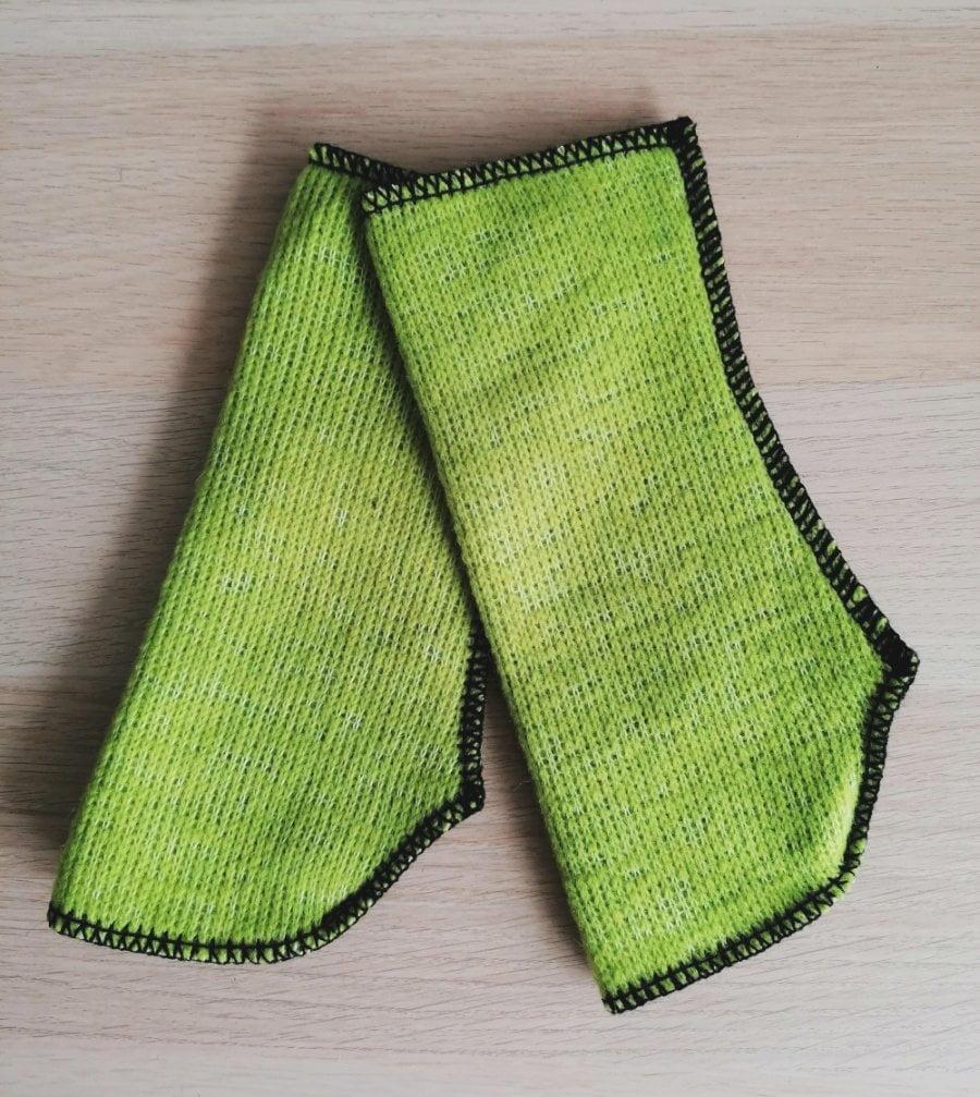 Mănuşi Protecţii mâini lână merinos light green pea Alwero