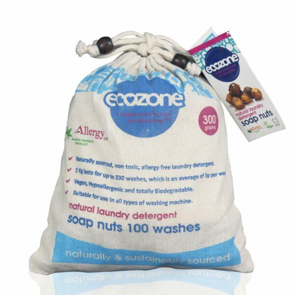 Nuci de săpun bio, 100 de spălări, 300 g Ecozone