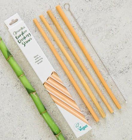 Paie din bambus pentru băut set 4 bucăți Nordics