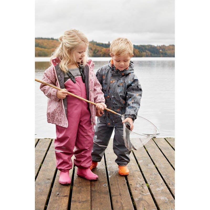 Pantaloni de ploaie si vant captusiti integral cu fleece navy CeLaVi 3