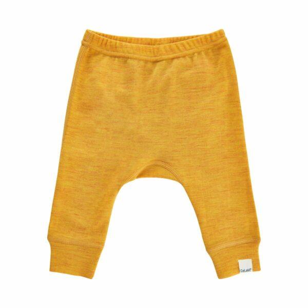 Pantaloni salvari din lana merinos mineral yellow CeLaVi