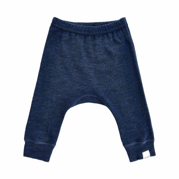 Pantaloni salvari din lana merinos navy CeLaVi