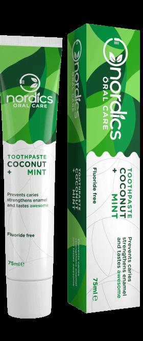 Pastă de dinți anticarii cu cocos și mentă bio 75ml Nordics