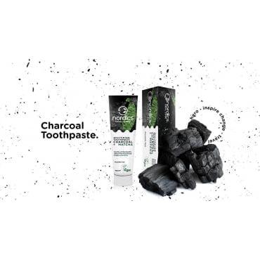 Pastă de dinți neagră cu cărbune activ și ceai verde Matcha pentru albirea dinților 75 ml Nordics 2