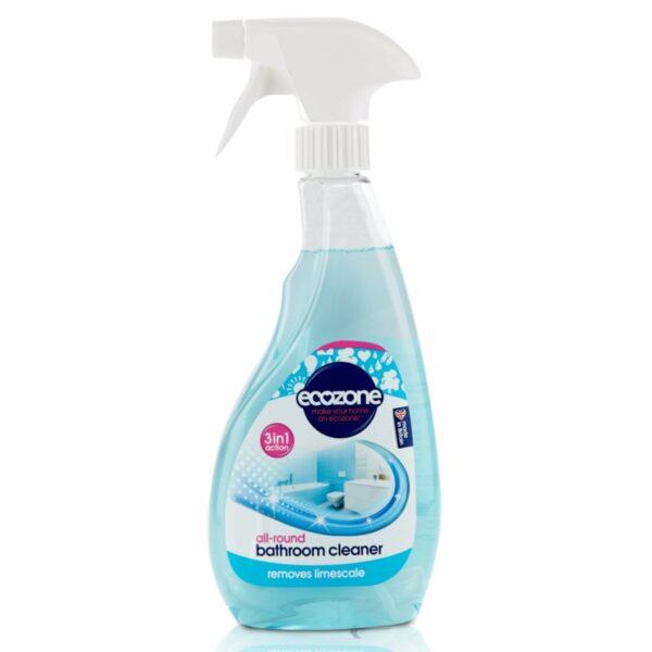 Soluție anticalcar pentru curățat baia 3 în 1 500 ml Ecozonedeparteaza calcarul si resturile de sapun Potrivit pentru toate suprafetele din baie Special conceputa pentru curatare rapida si usoara Eco-friendly