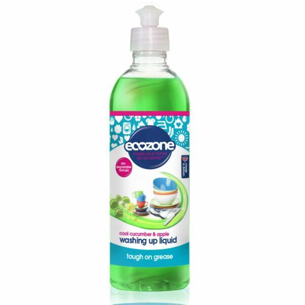 Soluție concentrată pentru spălat vase cu castravete și măr 500 ml Ecozone