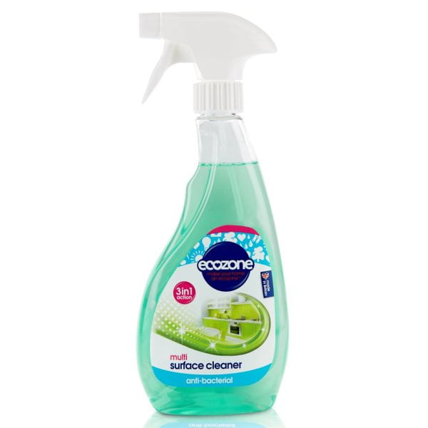 Soluție curățat multi suprafețe 3 în 1 acțiune antibacteriană 500 ml Ecozone