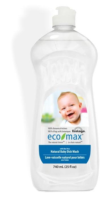 Soluție spălat vase și biberoane cu aloe vera pentru bebeluși 740 ml Ecomax