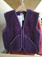 Vestă copii din lână merinos violet Carpathian Alwero
