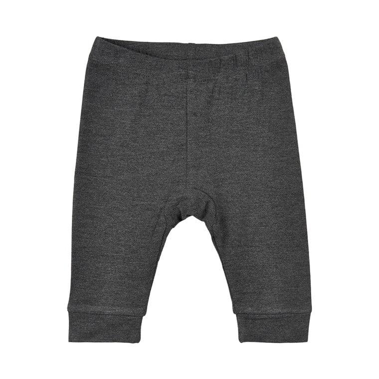 Pantaloni colanți din bambus dark grey melange Minymo