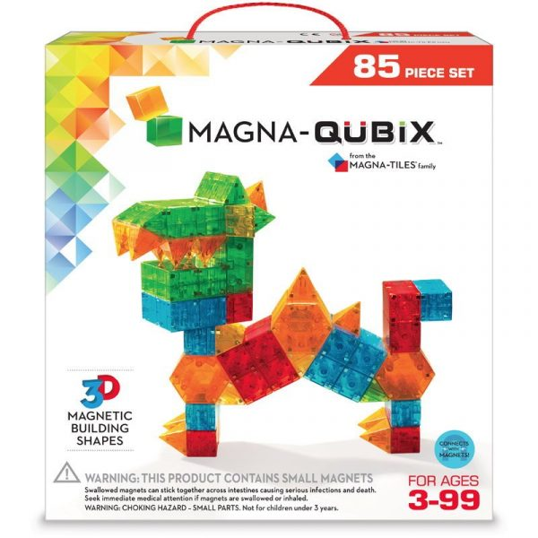 Magna-Qubix Set 85 piese magnetice de construcție transparente colorate