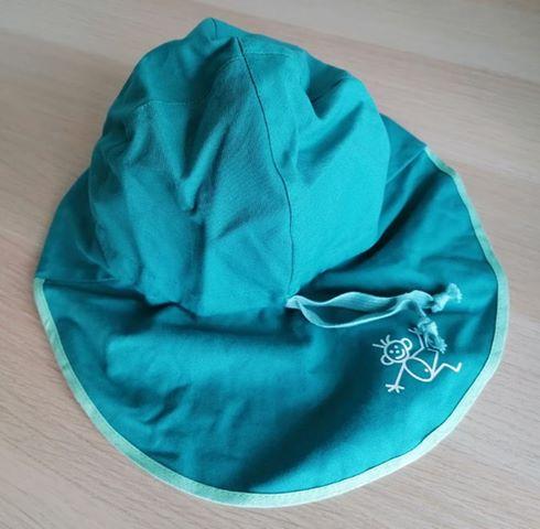 Pălărie de soare cu boruri mari din bumbac organic turcoaz Pickapooh 2