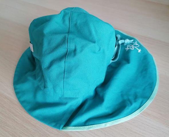 Pălărie de soare cu boruri mari din bumbac organic turcoaz Pickapooh 4