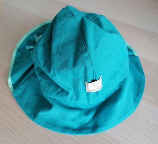 Pălărie de soare cu boruri mari din bumbac organic turcoaz Pickapooh