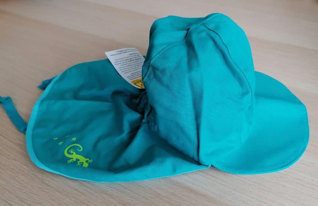 Pălărie de soare din bumbac organic model pompier turcoaz Pickapooh 3