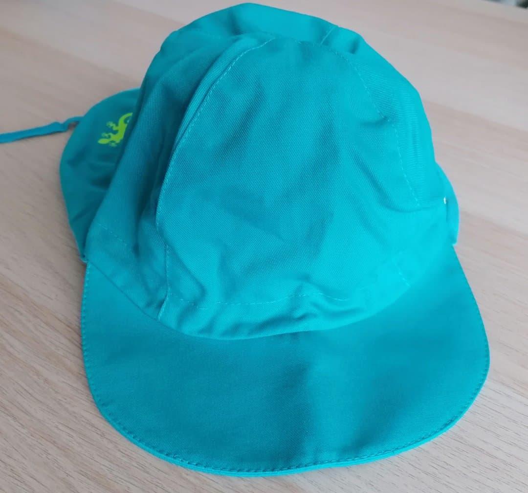 Pălărie de soare din bumbac organic model pompier turcoaz Pickapooh 4