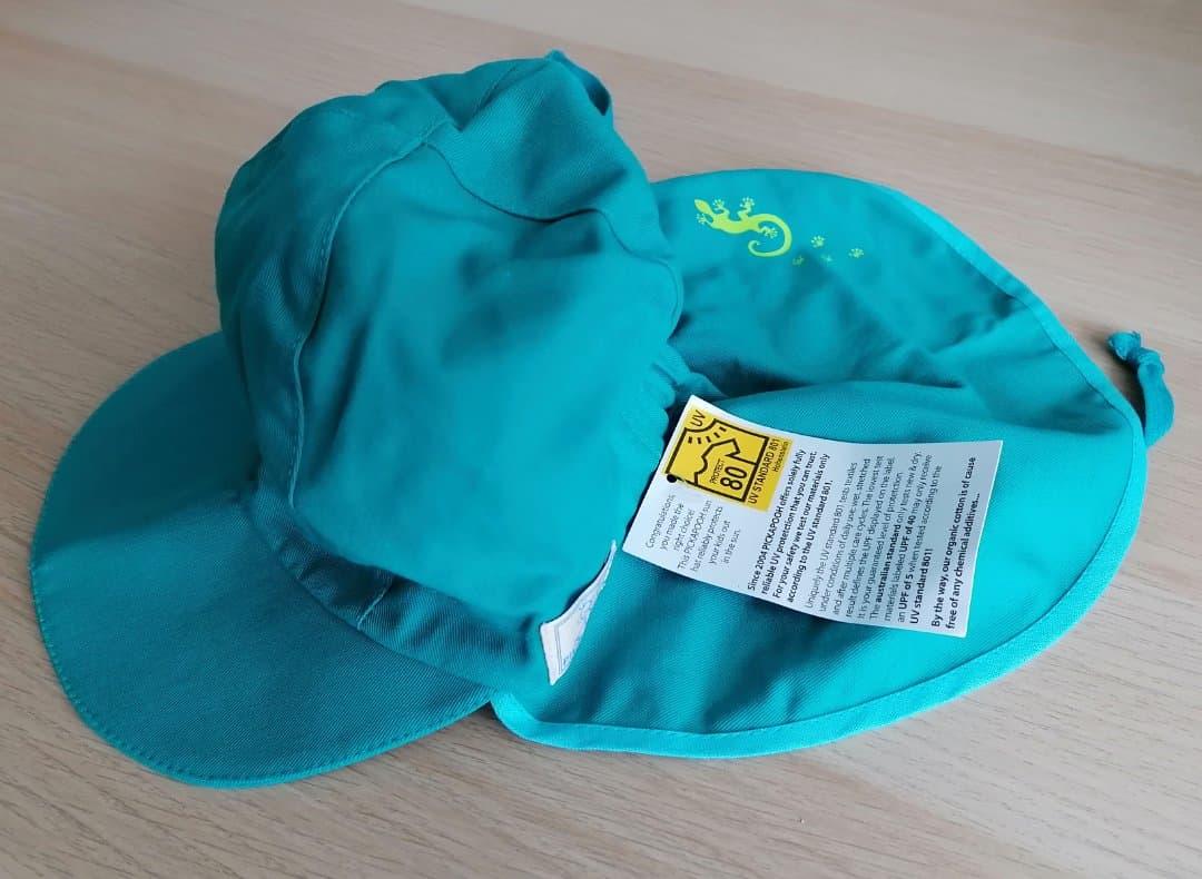 Pălărie de soare din bumbac organic model pompier turcoaz Pickapooh