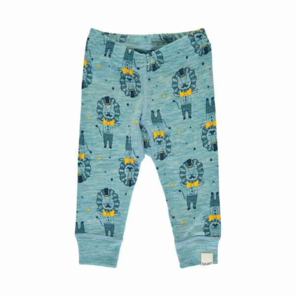 Pantaloni colanți din lână merinos Lulworth Blue CeLaVi