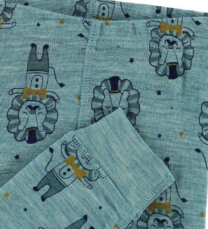 Pantaloni colanți din lână merinos lulworth blue CeLaVi 2