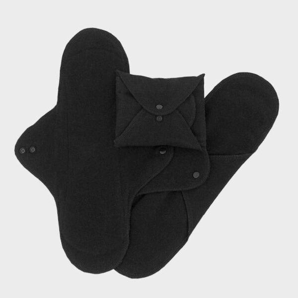 Set 3 absorbante intime lavabile de noapte Black ImseVimse