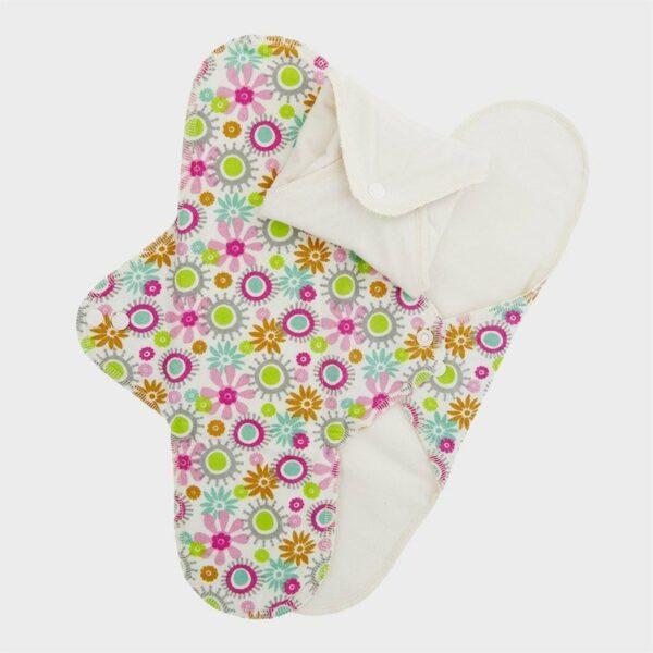 Set 3 absorbante intime lavabile de noapte Flower ImseVimse