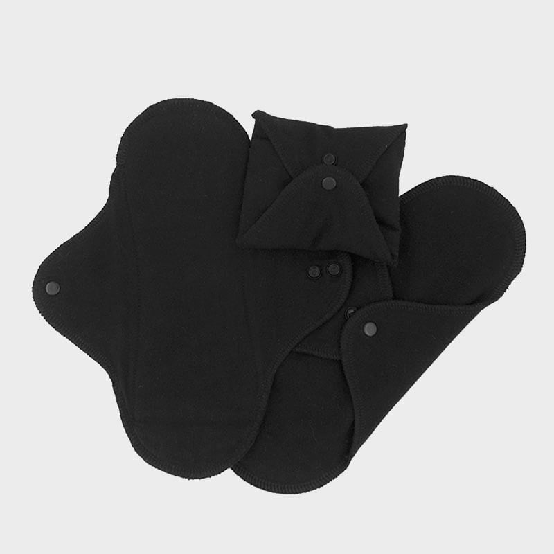 Set 3 absorbante intime lavabile de zi Black ImseVimse