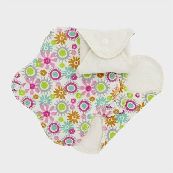 Set 3 absorbante intime lavabile pantyliner Flower ImseVimse