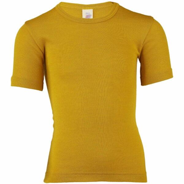 Tricou saffron din lână merinos şi mătase organică pentru copii Engel