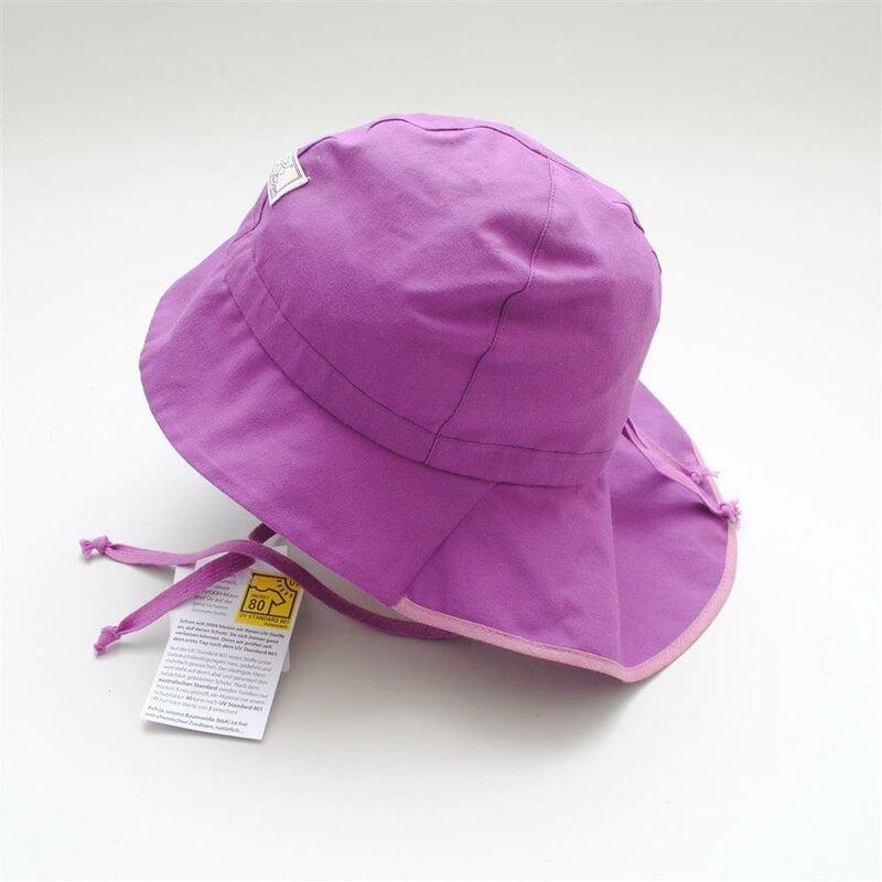 Pălărie de soare cu boruri mari din bumbac organic dalia Pickapooh Picka