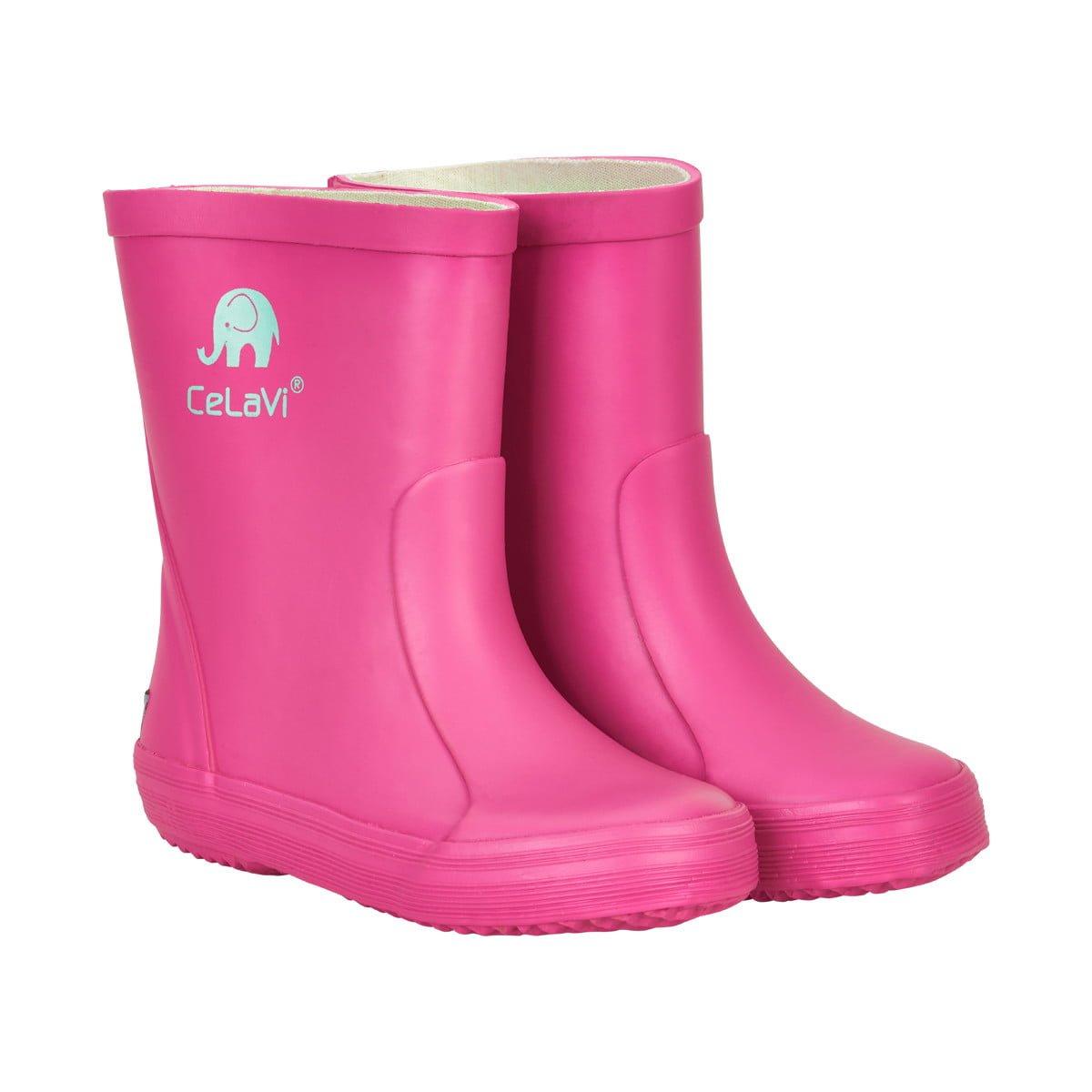 Cizme din cauciuc natural pentru copii real pink CeLaVi