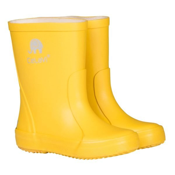 Cizme din cauciuc natural pentru copii yellow CeLaVi