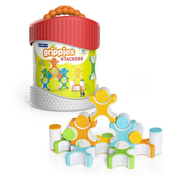Grippies Stackers set magnetic senzorial (16 piese)