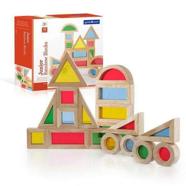 Junior Rainbow Blocks set 20 piese - Guidecraft