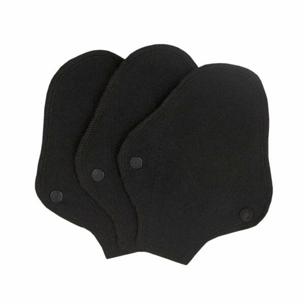 Set 3 absorbante intime lavabile tanga pantyliner Black ImseVimse
