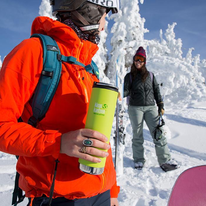 Cană termoizolantă termos cu capac de cafea Deep Surf Matte TKWide 592 ml Klean Kanteen