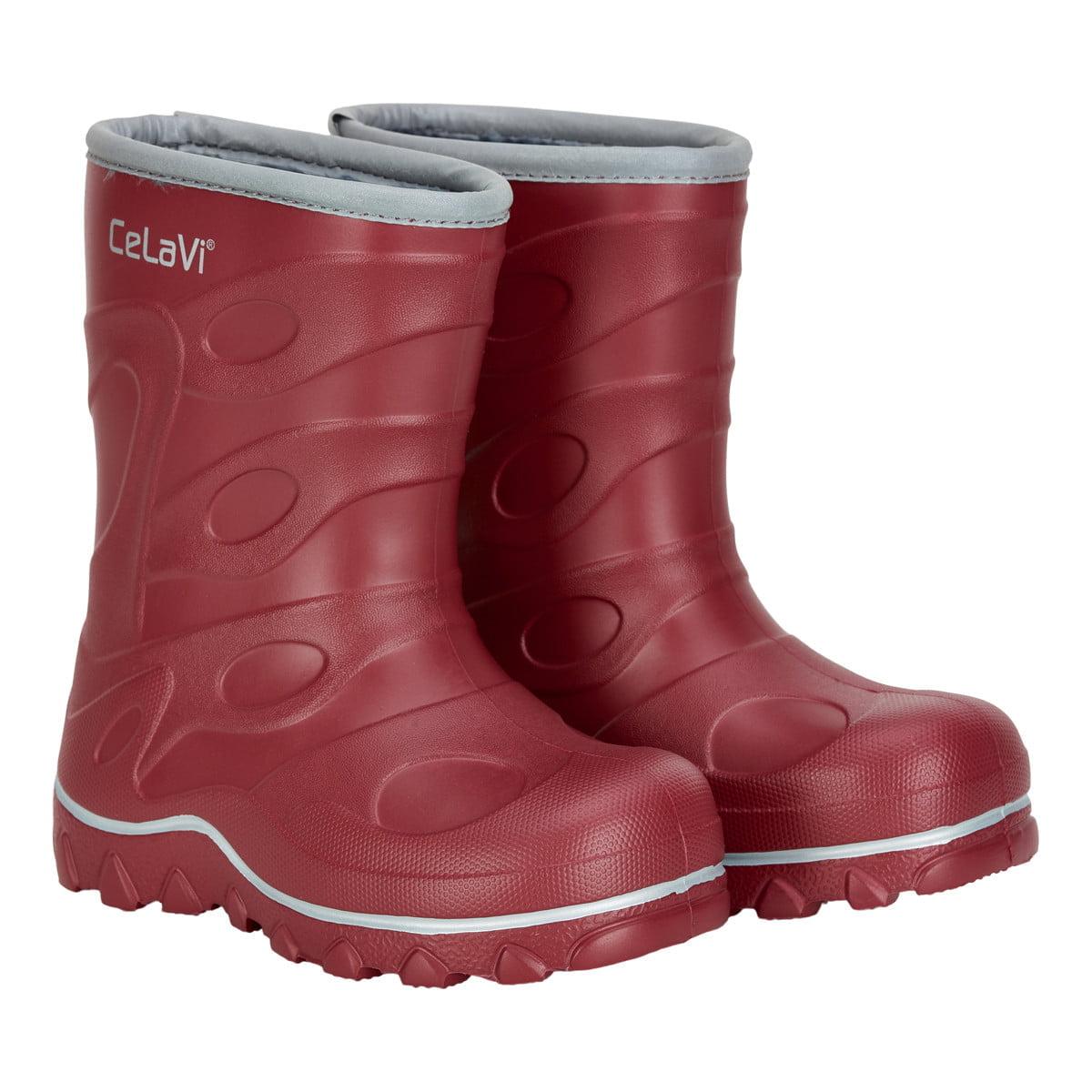 Cizme de ploaie pentru copii cu căptușeală rio red CeLaVi 4