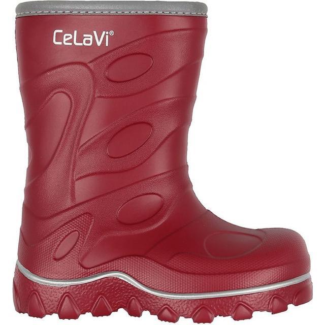 Cizme de ploaie pentru copii cu căptușeală rio red CeLaVi