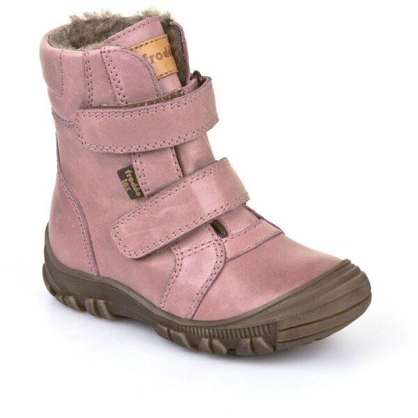 Cizme impermeabile din piele căptuşite cu lână naturală şi talpă flexibilă Froddo Pink
