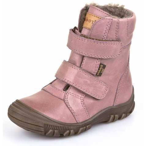 Cizme impermeabile din piele căptuşite cu lână naturală şi talpă flexibilă Froddo Pink 2