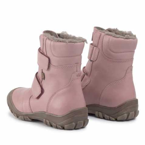 Cizme impermeabile din piele căptuşite cu lână naturală şi talpă flexibilă Froddo Pink 3