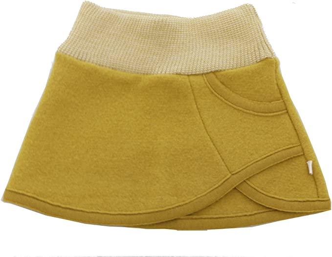 Fustă Disana din lână merinos boiled wool Curry