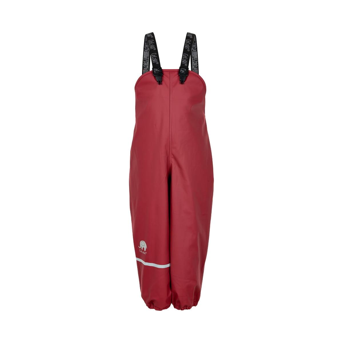 Pantaloni de ploaie și vânt căptușiți integral cu fleece rio red CeLaVi