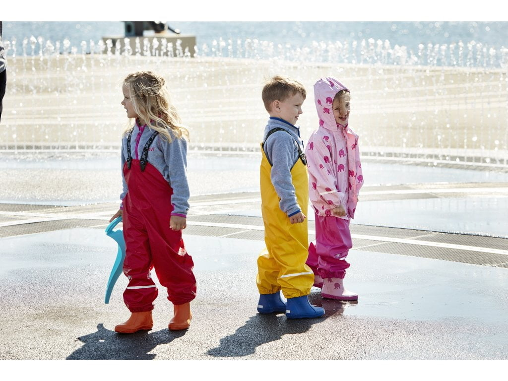 Pantaloni de ploaie și vânt (impermeabil) real pink CeLaVi 3
