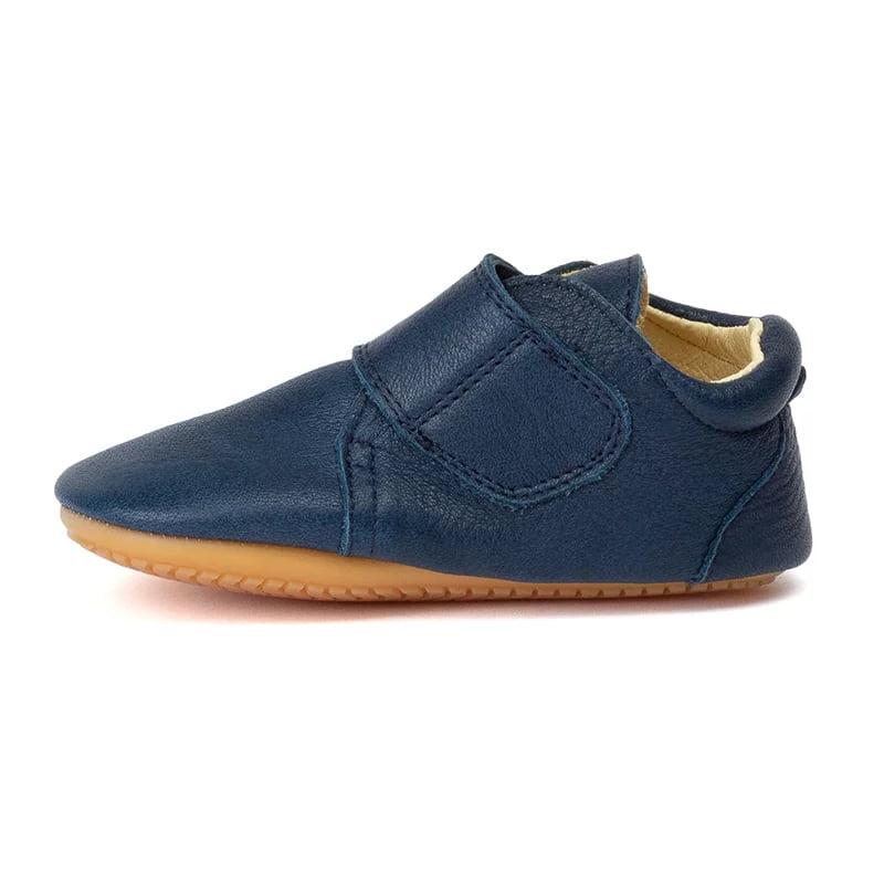 Pantofi barefoot din piele pentru primii pași dark blue Froddo 2