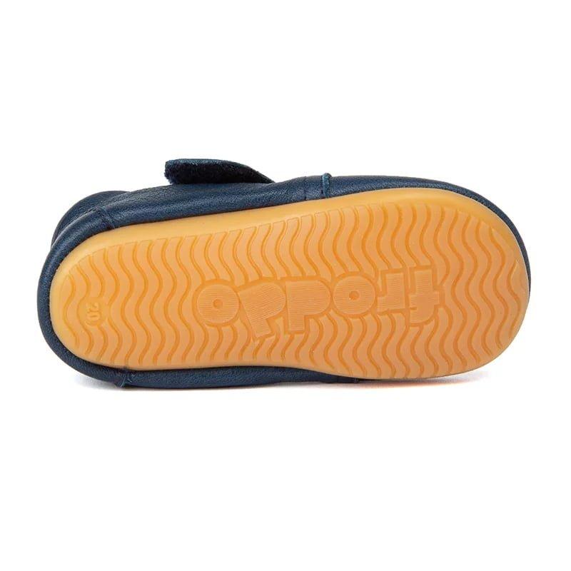 Pantofi barefoot din piele pentru primii pași dark blue Froddo 3