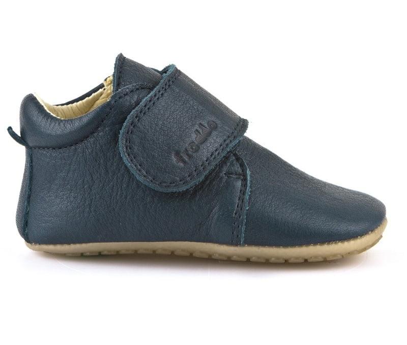 Pantofi barefoot din piele pentru primii pasi dark blue Froddo 2