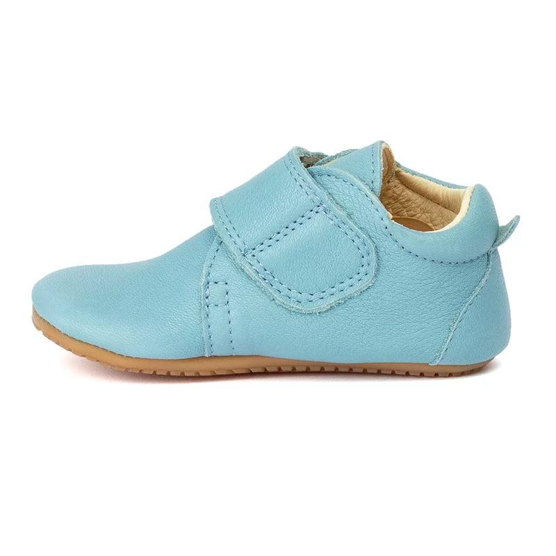 Pantofi barefoot din piele pentru primii pași light blue Froddo 2