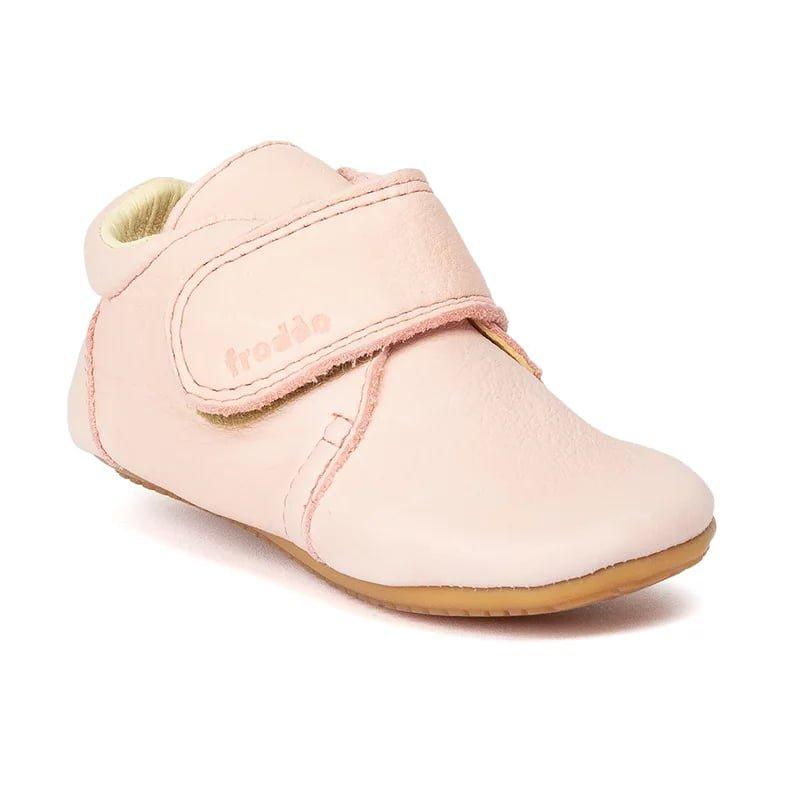 Pantofi barefoot din piele pentru primii pași pink Froddo 1