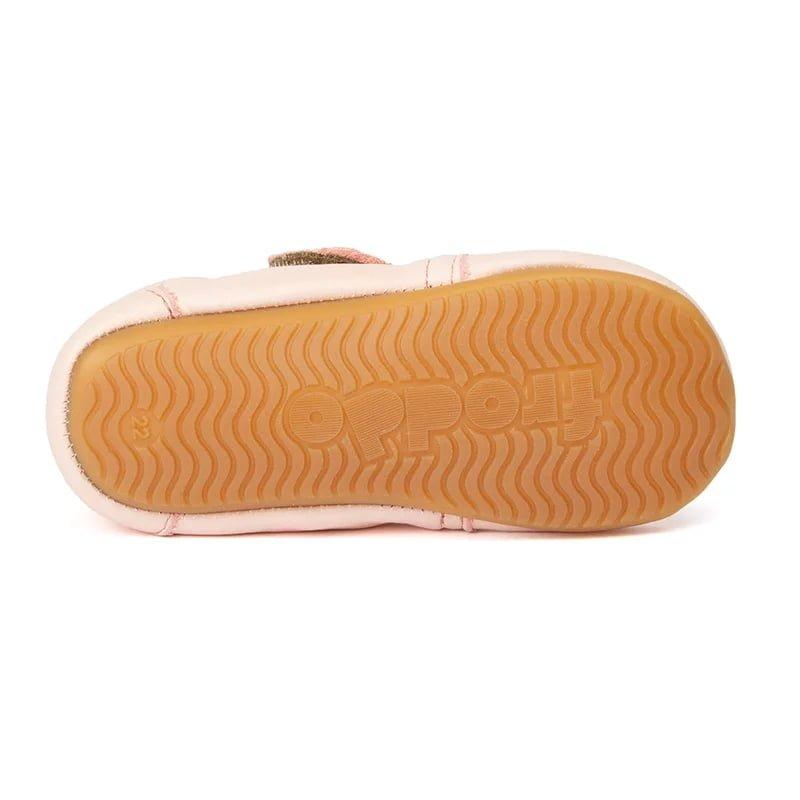 Pantofi barefoot din piele pentru primii pași pink Froddo 3